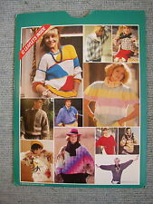 Knitting patterns+guide Womens Mens Childs sweaters patterned/Aran/cable *pics*