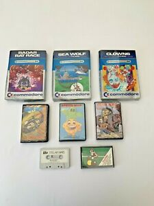 Commodore 64 Cartridge And Cassette Games Bundle