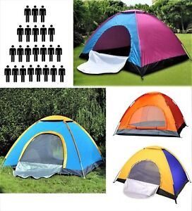 3 - 8 Person Camping Tent Waterproof Room Outdoor Hiking Backpack Fishing