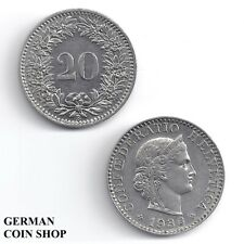 Schweiz 20 Rappen 1883 1896 1901 1924 1933 1934 1936 1939 1943 1950 1952 1955