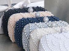 Pearl Bead Beaded Diamante Gift Boxed Bridal Wedding Purse Clutch Handbag Bag 09