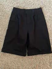 Preowned Boys French Toast Black Cotton Shorts / Uniform Shorts, Size 12