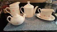 Corning Corelle Forever Yours Teapots Gravy Boat Milk Pitcher CHOICE