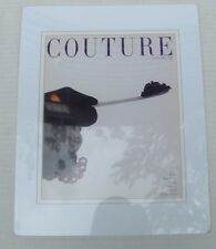"""Vintage 15"""" Matted Print January 1959 Couture Diamond Ring Caviar Magazine Cover"""