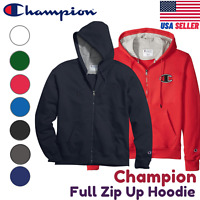 Champion Full Zip Hoodie Jacket Sweatshirt Fleece Pockets S800/S0891/GF69/GF91H