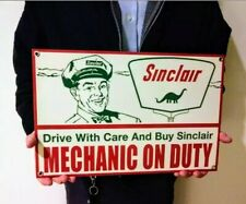 Sinclair Mechanic Sign ...Large Gas Oil Gasoline