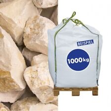 (0,24€/1kg) Kalksteinbruch Yellow Sun 70-120mm 1000kg Big Bag