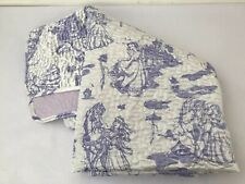 "Disney Store Princess Quilt 50""x53"" Satin Purple Lavender Small Toddler Blanket"