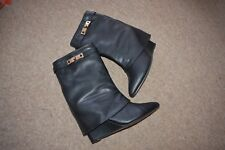 PLT PRETTYLITTLETHING BOOTS WITH WEDGE IN BLACK SIZE 7