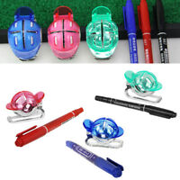 Golf Ball Line Liner Marker Template Drawing Alignment Tool & Pen Accessory