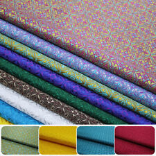 DIY Satin Brocade Jacquard Fabric Mongolia Costume Dressmaking Craft 75*50cm