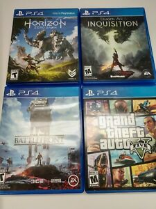 Sony Playstation 4 4 Game Lot (PS4)