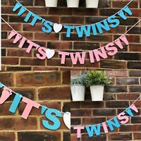 Baby Shower Bunting, It's Twins Boy, Girl, Neutral, Banner, Its a Boy Its a Girl