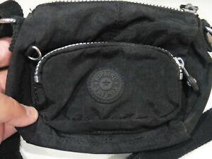 KIPLING Vintage fanny pack / Shoulder Purse Black nylon belt bag