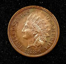 1886 Indian Head Cent, Type 1 variety!