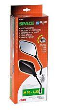 Blister con 2 espejos retrovisores para moto homologados , space , rosca 10 mm