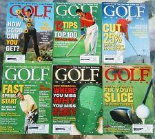 GOLF Magazine 1999 Vintage Jan-June Lot