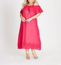 Plus Size Autograph Pink Cut Out Hem Off The Shoulder Viscose MaxiDress Size 18
