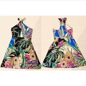 MARA HOFFMAN Cross Front Cut Out Summer Mini A Line Party Dress - Small AU 8-10