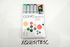 NEW Copic Sketch Markers SECONDARY TONES Colors 6-piece SET dual tip Marker