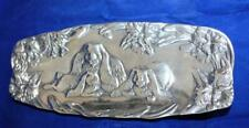 Peltrina Floppy Ear Rabbit Tray / Dish Pewter / Aluminum Bunny Easter 80-6291