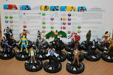 DC HeroClix Superman/Wonder Woman 1-17 set common set( 17 figures)