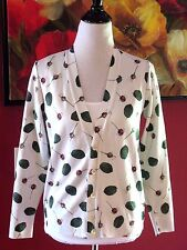 NWT Under Cover Undercoverism Japan tag sz 1 Rosebuds off white Cardigan Sweater