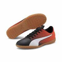 Puma Rapido II IT Herren Fußballschuhe Indoor Schuhe orange schwarz weiß
