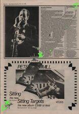 Peter Hammill Sitting Targets Van Der Graf Generator Advert NME Cutting 1981