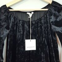 ANTHROPOLOGIE | BeachLunchLounge Womens Velvet Top NEW [ S or AU 10 / US 6 ]