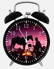 """Cow-Boy Alarme Bureau Horloge 3.75 """" Maison Ou Bureau Décor X07 Nice pour Cadeau"""