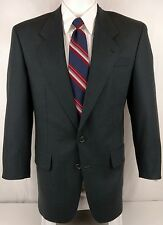 BACHRACH Trentino 38R Black 100% Wool 2 Button Black Blazer Sport Coat