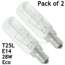 2 x Oven Cooker Hood Extractor Vent LAMP LIGHT BULB SES E14 T25 240V 40W