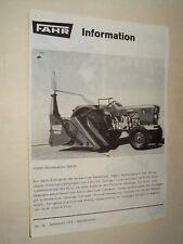 Brochure Tracteur FAHR MAISHACKSLER  traktor tractor  prospekt prospectus DEUTZ