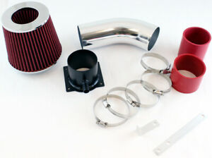 """For 96-00 Audi A4 / A6 / Cabriolet GSP 3"""" Red Short Ram Air Intake Kit + Filter"""