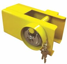 UNIVERSAL CARAVAN TRAILER HITCH COUPLING LOCK WITH PADLOCK 110mm x 110MM