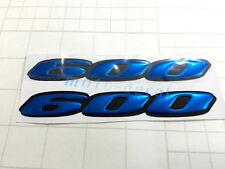 GSXR GSX-R 600 Raised 3D Chrome Blue Decal Emblem Fairing Sticker GSXR600 Bling