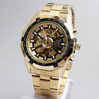 Forsining Men's Automatic Golden Watch Stainless Steel Mechanical Wristwatches