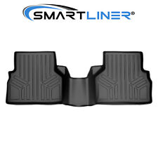 SMARTLINER Floor Mats Liner 2nd Row Black For 2015-2018 Audi Q3