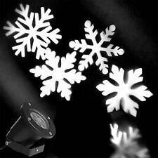LED Schneeflocken Projektor Lichteffekt Außen Garten Beleuchtung Gartenleuchte