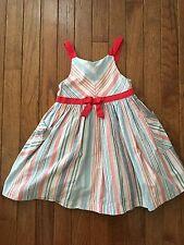 Oshkosh B'gosh Genuine Kids ~ Girls Summer Striped Dress ~ Red White Blue ~ 3T