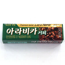 Korean Gum LOTTE Chew Chewing Gum Arabica coffee Flavor (26g)