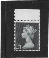 """1969 £1 BLACK MACHIN """"LINE FROM QUEEN'S EYEBROW TO HAIRLINE ERROR"""" SG.790 MNH"""