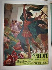 Penelope poster Antique French Opera Georges Rochegrosse 1913