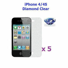 5 X iPhone 4 / 4S Bling Diamond Sparkling Glitter Screen Protector
