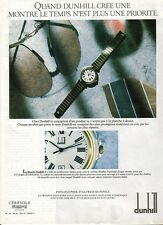 PUBLICITE advertising  2000 DUNHILL montre accessoires