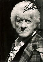 JON PERTWEE 3rd THIRD DOCTOR WHO SIGNED AUTOGRAPH 6 x 4 inches PRE PRINTED PHOTO