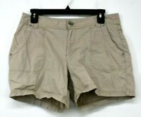 DKNY Jeans Womens Tan Button & Zip Cotton Stretch Summer Casual Shorts Sz 8