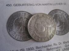 Vorzügliche Erhaltungsgrad Münzen des dritten Reichs aus Silber