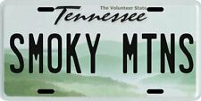 Tennessee Smoky Mountains Aluminum License Plate